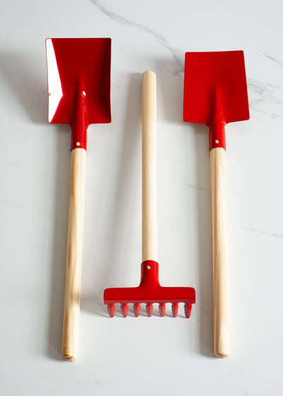 Children's Garden Tool Set - Red