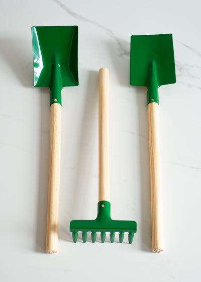 Children's Garden Tool Set - Green