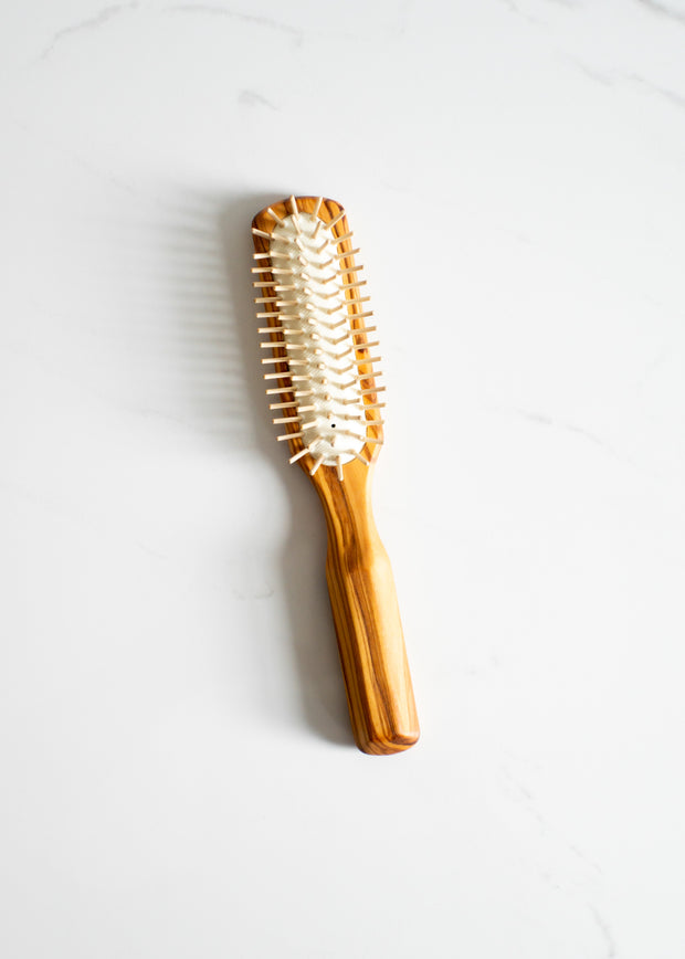 Olive Wood Hair Brush - Rectangle