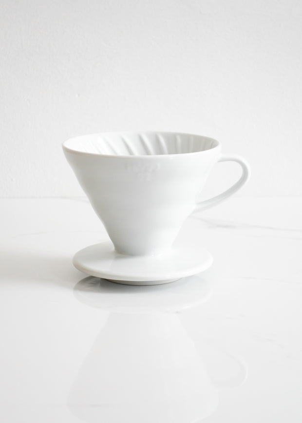 Hario V60-02 Ceramic Coffee Dripper (1-4 cups)