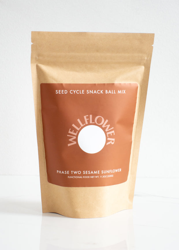 Wellflower - Seed Cycle Snack Ball Mix - Sesame Sunflower