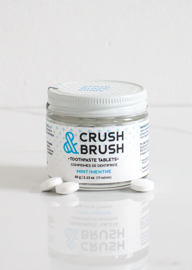 Crush & Brush Mint Toothpaste Tablets