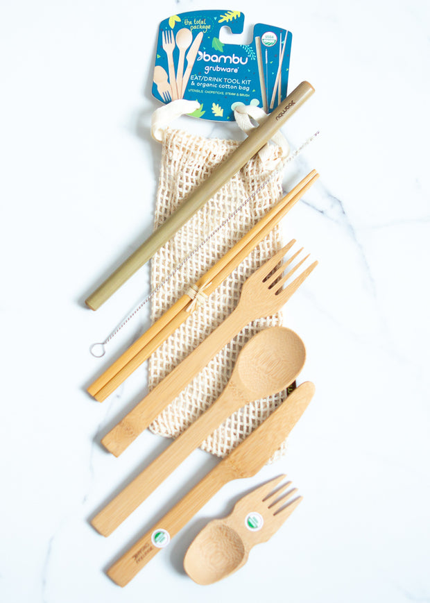 Bamboo Eat/Drink Tool Kit