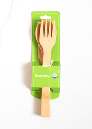 Bamboo Fork, Knife & Spoon Set