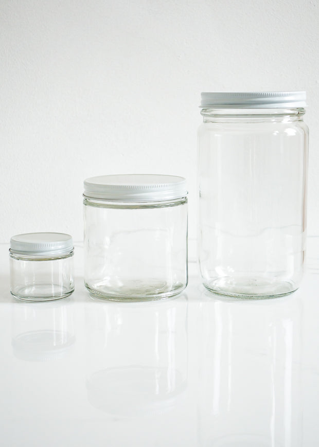 Refillable Glass Jar 32 oz