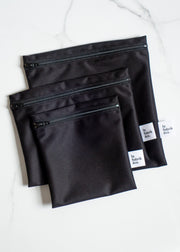 Reusable Zipper Bag - Black