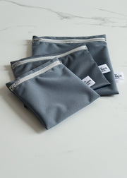 Reusable Zipper Bag - Grey