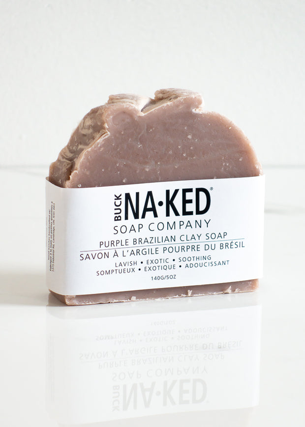 Buck Naked Purple Brazilian Clay Soap