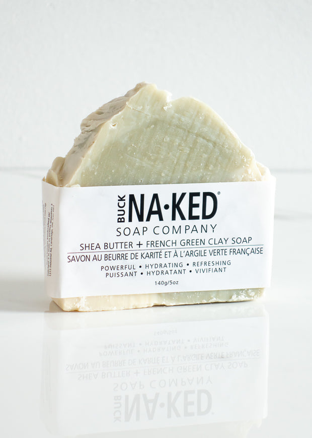 Buck Naked Shea Butter + French Green Clay Soap