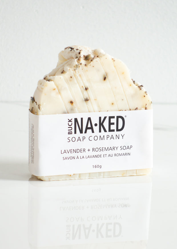 Buck Naked Lavender + Rosemary Soap