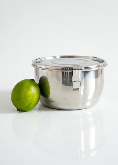 Airtight Stainless Steel Food Storage Container 14 cm