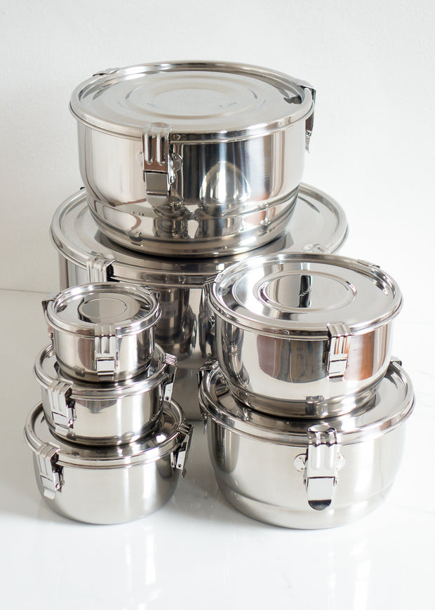 Airtight Stainless Steel Food Storage Container 8 cm
