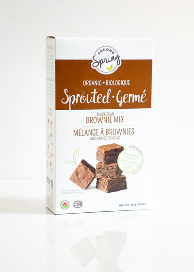 Organic Sprouted Black Bean Brownie Mix