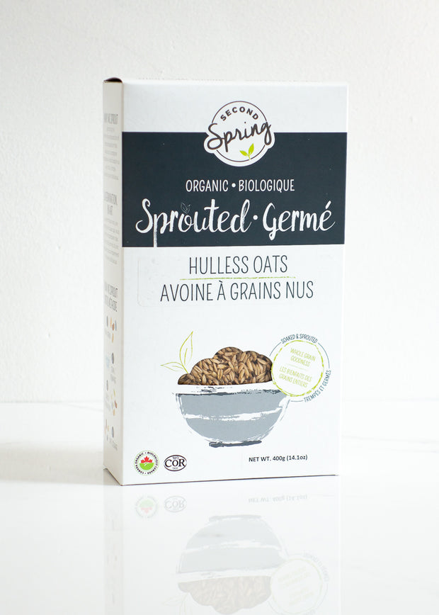 Organic Sprouted Hulless Oats