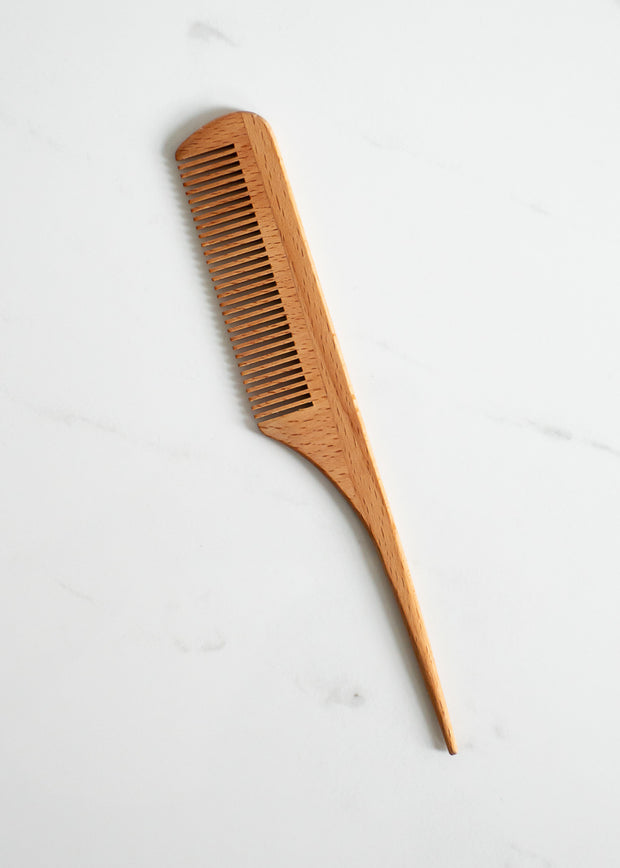Wood Comb With Handle