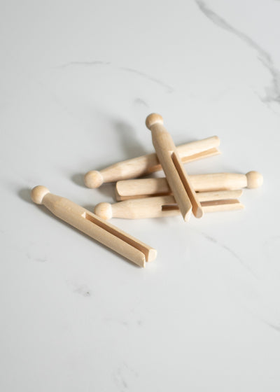 Traditional Wood Clothes Pegs