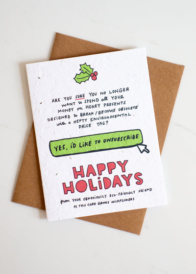 Plantable Card: Holiday Unsubscribe...