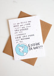 Plantable Card: Entire Planet...