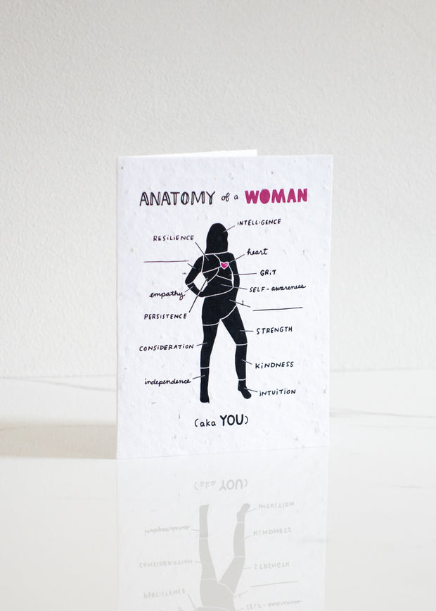 Plantable Card: Anatomy of a Woman...