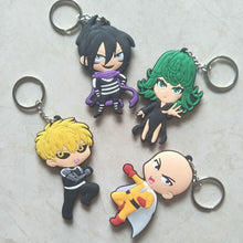 Load image into Gallery viewer, one punch man anime keychain