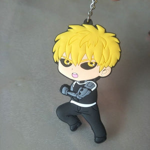 anime one punch man genos keychain