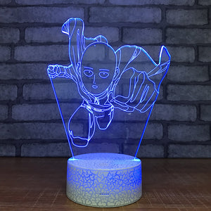 one punch man blue led light