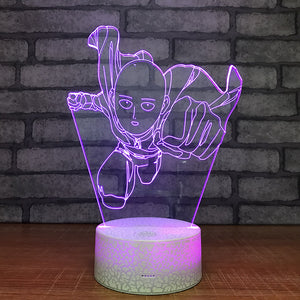 one punch man purple led light