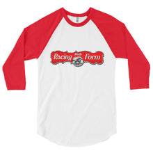 Load image into Gallery viewer, Red & White Raglan 3/4 length T-shirt