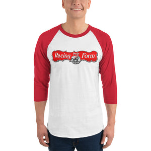 Red & White Raglan 3/4 length T-shirt