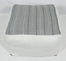 Load image into Gallery viewer, Large Loom Pouf- Grey Design