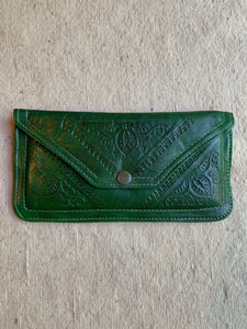 Moroccan Leather Clutch Wallet - Snap Button