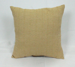 Small Square Throw Pillow-Tan