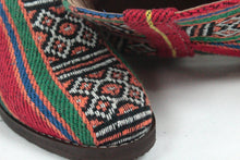 Load image into Gallery viewer, Moroccan Carpet Boot, Orange with Red, White and Green Design