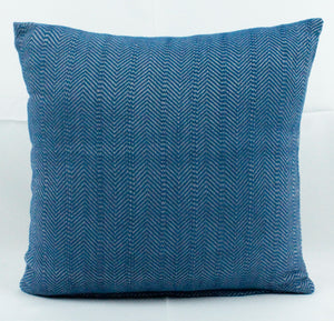 Small Square Throw Pillow- All Blue