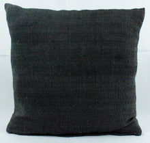 Load image into Gallery viewer, Small Square Throw Pillow- All Black