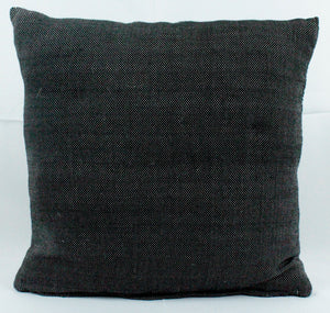 Small Square Throw Pillow- All Black