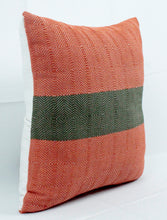Load image into Gallery viewer, Small Square Throw Pillow- Orange with Green Center
