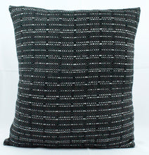Load image into Gallery viewer, Small Square Throw Pillow- Black Face with White back