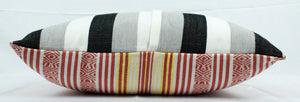 Rectangular Throw Pillow- Sunset Stripes