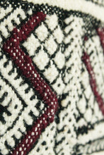 Load image into Gallery viewer, Maslouhi Original Accent Rug- Small Black, White and Maroon
