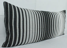 Load image into Gallery viewer, Large Lumbar Pillow- Black, Grey White Ombré
