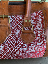 Load image into Gallery viewer, Moroccan Leather Bag: Embroidered Red