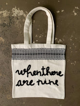 Load image into Gallery viewer, Voter Totes: Loom-Woven Cotton with Hand-Stitched Customized Messages