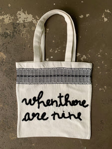 Voter Totes: Loom-Woven Cotton with Hand-Stitched Customized Messages