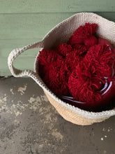 Load image into Gallery viewer, Rustic Raffia & Cotton Storage Baskets with White Bands