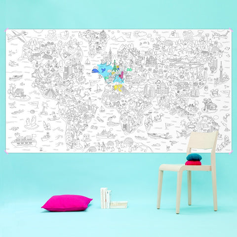 Giant Colouring Rolls - ATLAS 180cm x 100cm