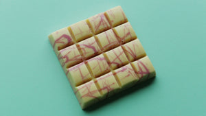 White Chocolate Bar - Raspberry Fudge Filling