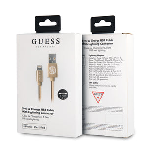 Cable Guess Lightning Tejido Dorado - ForwardContigo