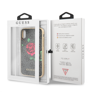Funda Case Guess Rosas Beige iPhone X/xs - ForwardContigo