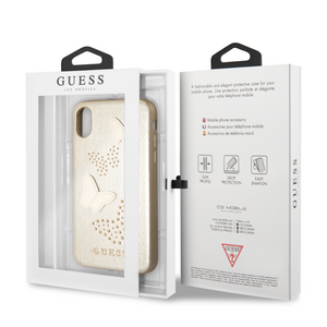 Funda Case Guess Mariposas Beige iPhone X/xs - ForwardContigo